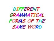 same words acting as different gramm forms