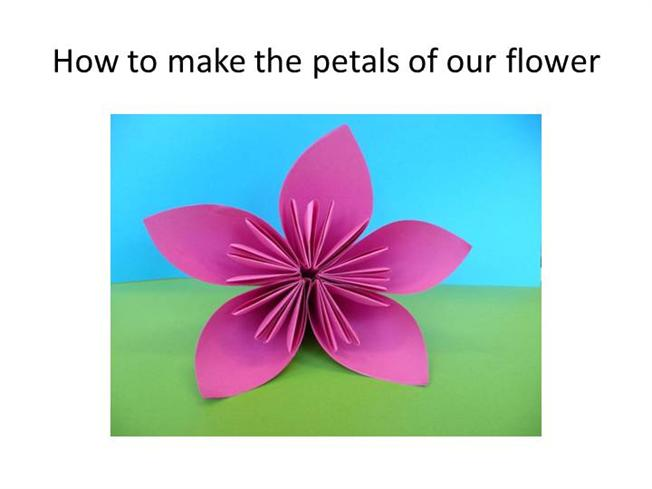 Folding instructions for an origami flower authorstream post to mightylinksfo