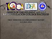 ACCOMPLISHMENT REPORT 1ST AND 2ND SEM
