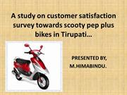 A study on customer satisfaction survey towards scooty