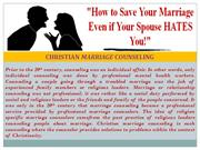CHRISTIAN MARRIAGE COUNSELING