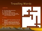 Travelling words