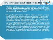 How to Create Flash Slideshow on Mac Free