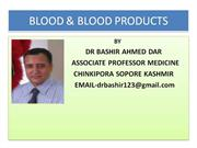 COMPLICATIONS OF BLOOD TRANSFUSION BY DR BASHIR AHMED DAR ASSOCIATE P