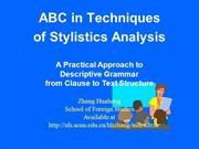 Introduction to Stylistics