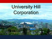 Univerity Hill Corporation 2012 Annual Report
