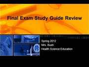 Final Exam Study Guide Review