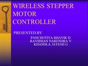 STEPPER MOTOR CONTROLLER