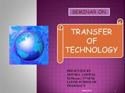 transfer of technology PREPARED BY MONIKA JAISWAL