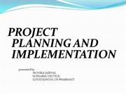 PPT ON PROJECT PLAN & IMPLEMENTATION PREPARED BY MONIKA JAISWAL