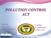 pollution control act