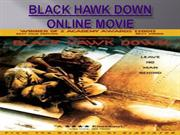 Black hawk down online movie