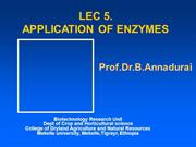 Lec 5 Appln of Enzymes