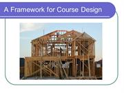 A framework for course design