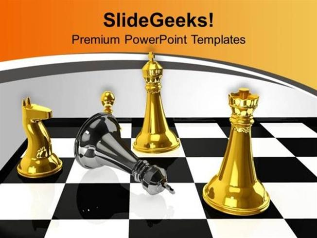 Teamwork chess winner defeated by black king ppt template powerpoint related powerpoint templates toneelgroepblik Images