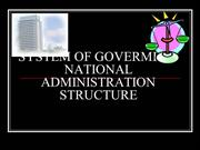 4.0 System of Gov and National Administrative Structure
