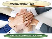 Article distribution Services