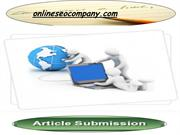 Article Submission directory