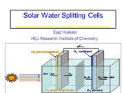 solar water spliting cell