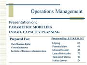 Operations Management Assignment - Capacity Planning