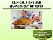 CLINICAL SIGNS AND MANAGEMENT OF FEVER