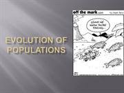 Evolution of Populations minus HW Equation Slides