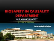 Biosafety in causality Department
