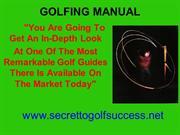 Golfing Manual - The most remarkable golf guides