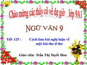 Tit 126: Cch lm bi ngh lun v mt on th, bi th.
