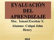 EVALUACIN del aprendizaje