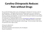 Carolina Chiropractic Reduces Pain without Drugs