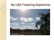 USA travelling Experience