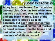 Logic Exercise #6-Marbles