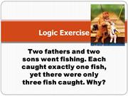 Logic Exercise #7-Gone Fishin'