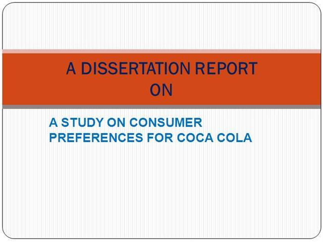 Dissertation On Consumer Behaviour