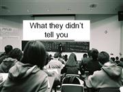 what they didnt tell you about teaching