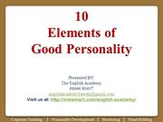 10 Elements of Good Personality