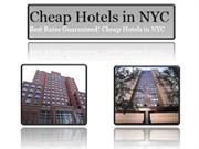 Tips for Finding the Cheap NYC Hotels