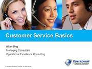 Customer Service Basics by Operational Excellence Consulting
