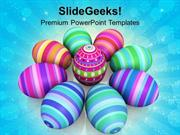 CHRISTIAN COLORFUL EASTER EGGS CELEBRATION PPT TEMPLATE