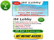 IMLobby Review: Warrior Forum Review - $1 Free Trial Limited Time.