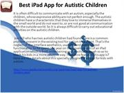 Best iPad App for Autistic Children