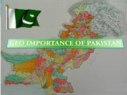 GEO IMPORTANCE OF PAKISTAN