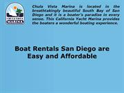 Boat Rentals San Diego are Easy and Affordable