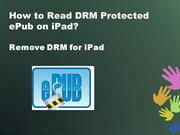 How to Read DRM Protected ePub on iPad