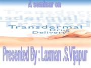 Transdermal drug ddelivery system