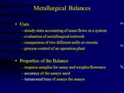 Lecture on Metallurgical Balances