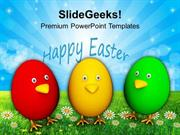 CHRISTIAN COLORFUL EASTER EGGS RELIGION PPT TEMPLATE