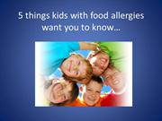 5 things kids with food allergies want you
