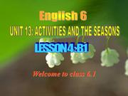 English 6 unit 13 lesson 4 Activities and the seasons_L4